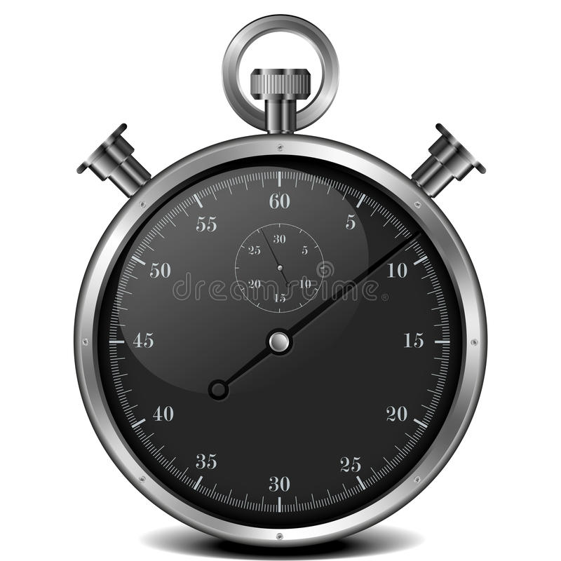Cronômetro preto ilustração stock