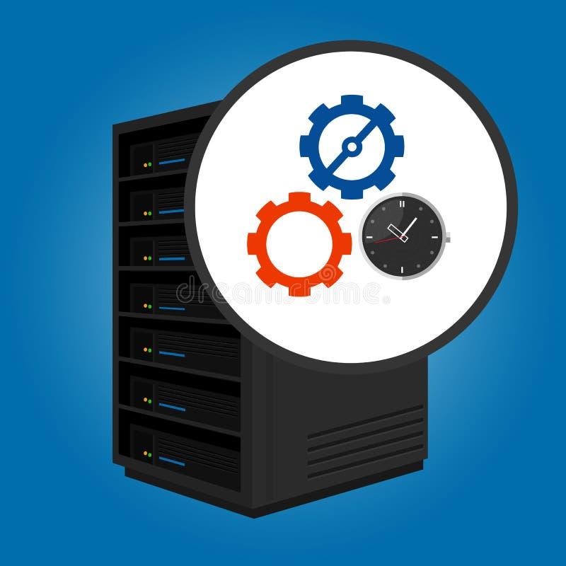 Cron-Jobaufgabe legte in Server in der Automatisierung des spezifischen Zeitpunktes automatisch laufen fest stock abbildung