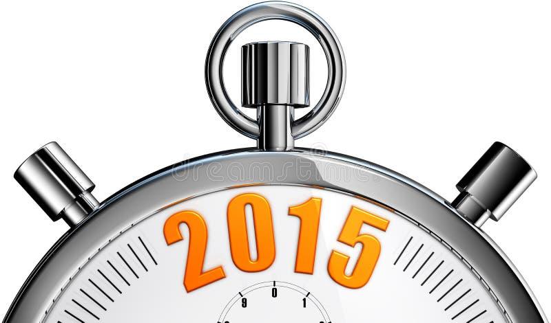 Cronômetro 2015 foto de stock