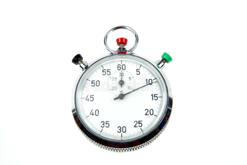 Cronômetro análogo fotografia de stock