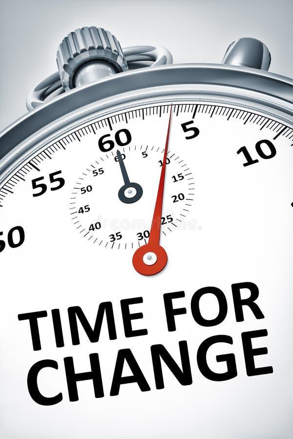 Cronômetro com tempo do texto para a mudança ilustração stock