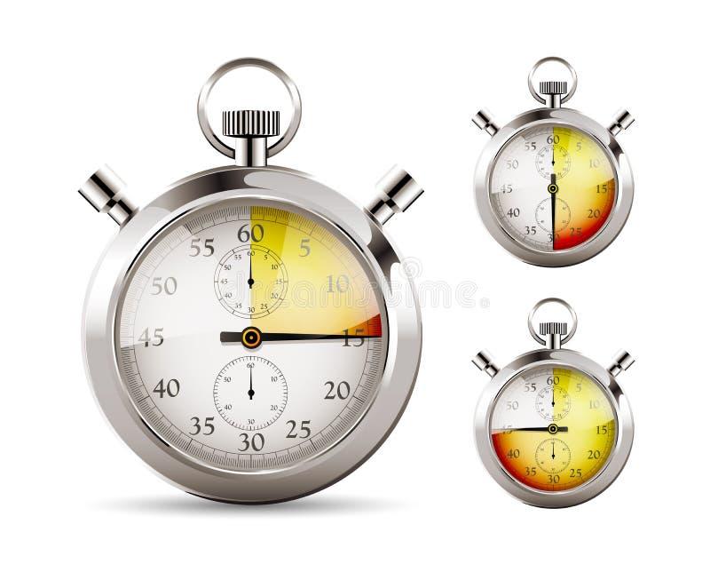 Cronômetro - contagem regressiva ilustração stock