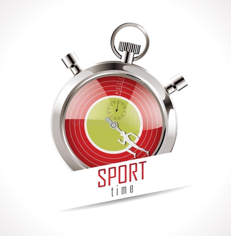 Cronômetro do tempo dos esportes ilustração stock