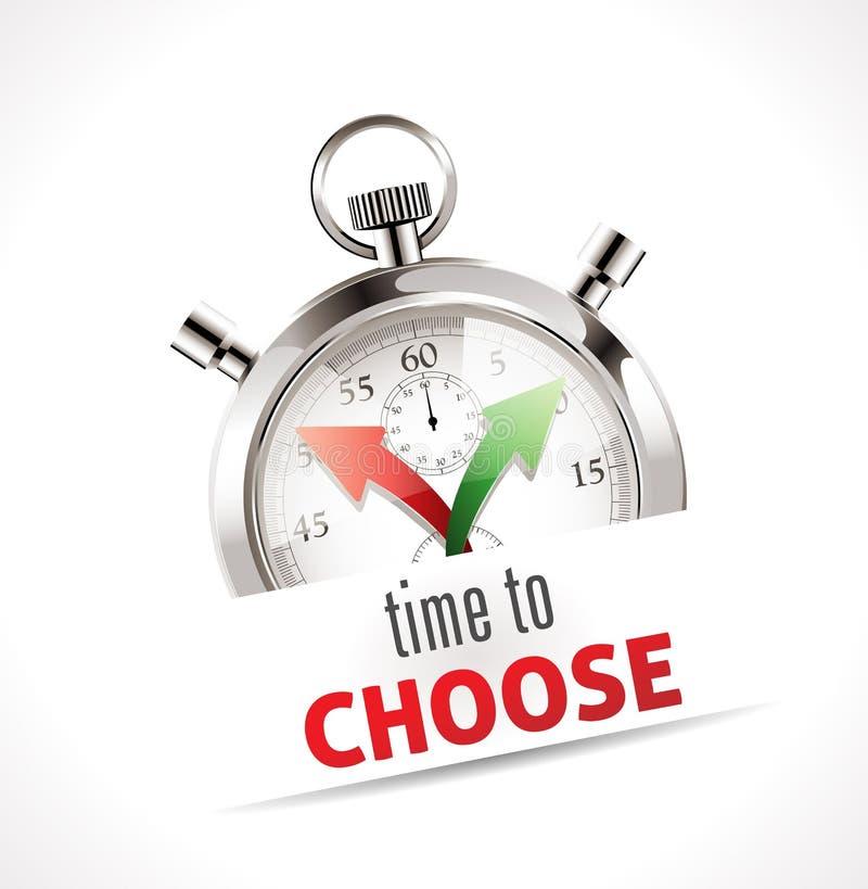 Cronômetro - hora de escolher ilustração stock