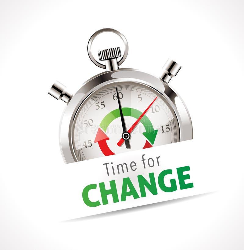 Cronômetro - hora para a mudança ilustração royalty free