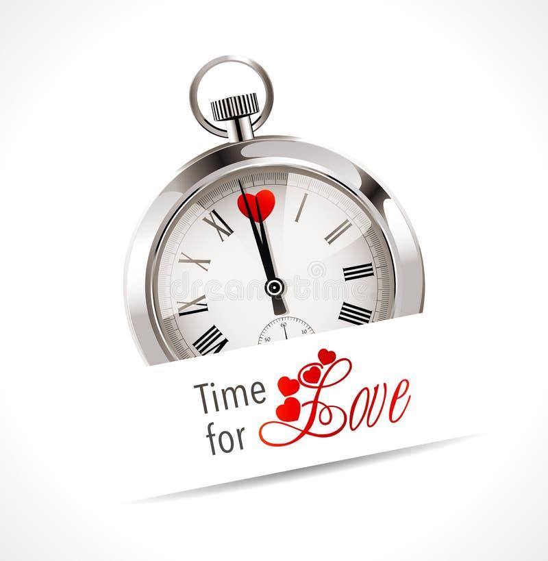 Cronômetro - hora para o amor ilustração do vetor
