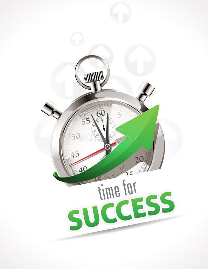Cronômetro - hora para o sucesso ilustração royalty free