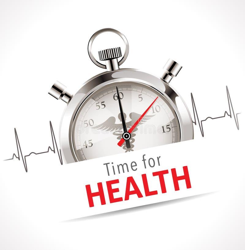 Cronômetro - hora para a saúde ilustração do vetor