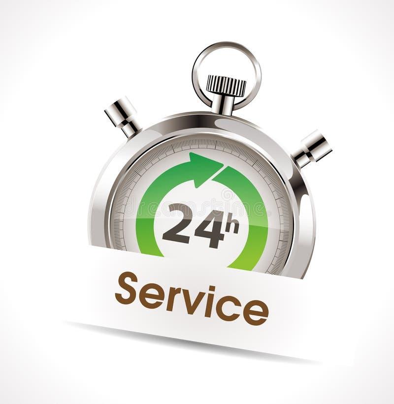 Cronômetro - serviço ilustração stock