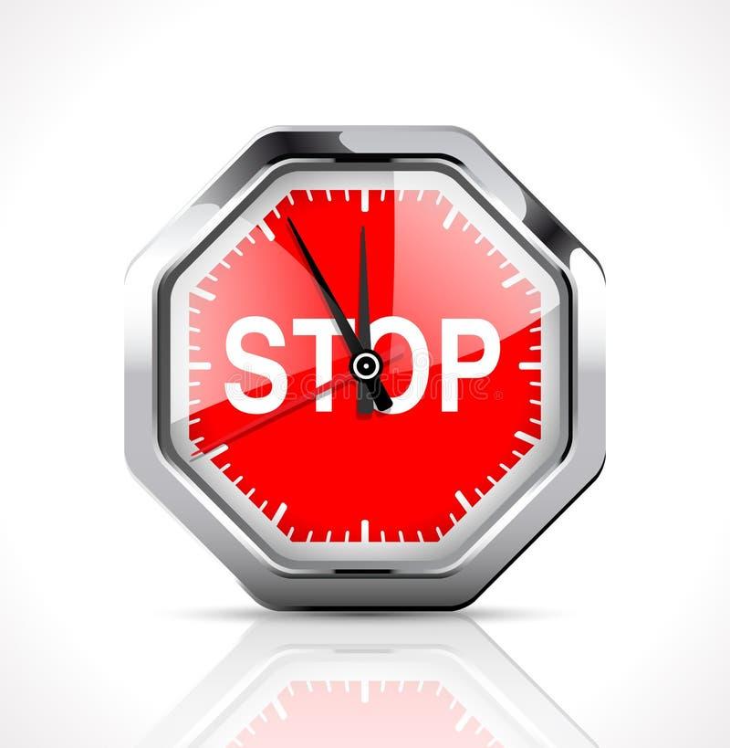 Cronômetro - tempo de parada ilustração stock
