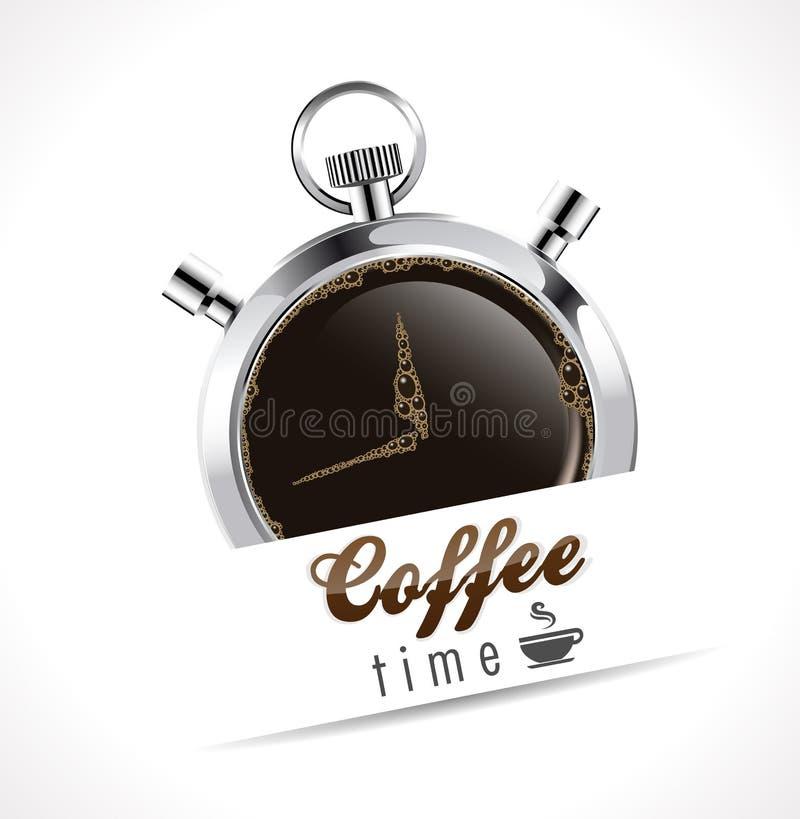Cronômetro - tempo do café ilustração royalty free