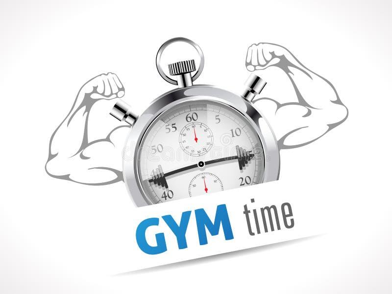 Cronômetro - tempo do GYM ilustração royalty free