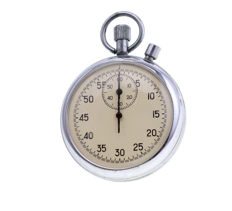 cronômetro velho isolado imagens de stock