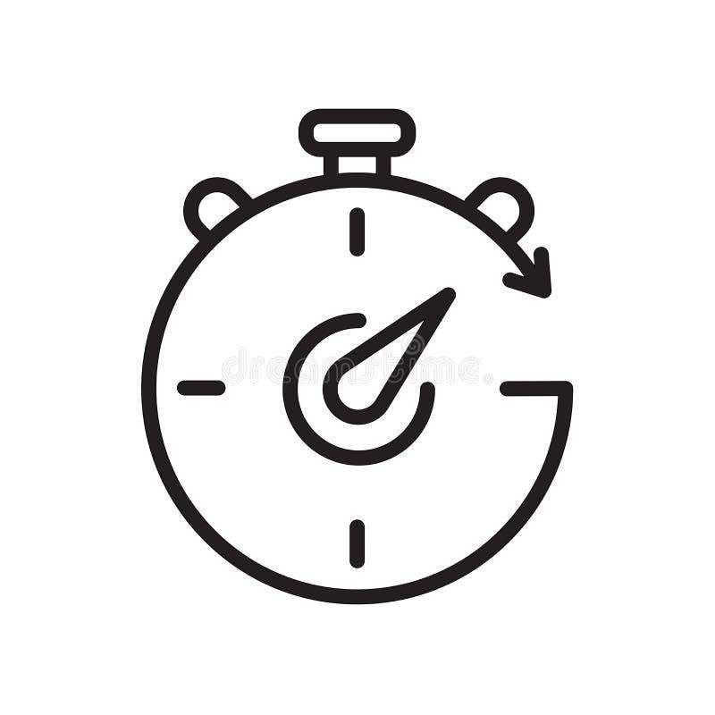 crono icona isolata su fondo bianco illustrazione di stock