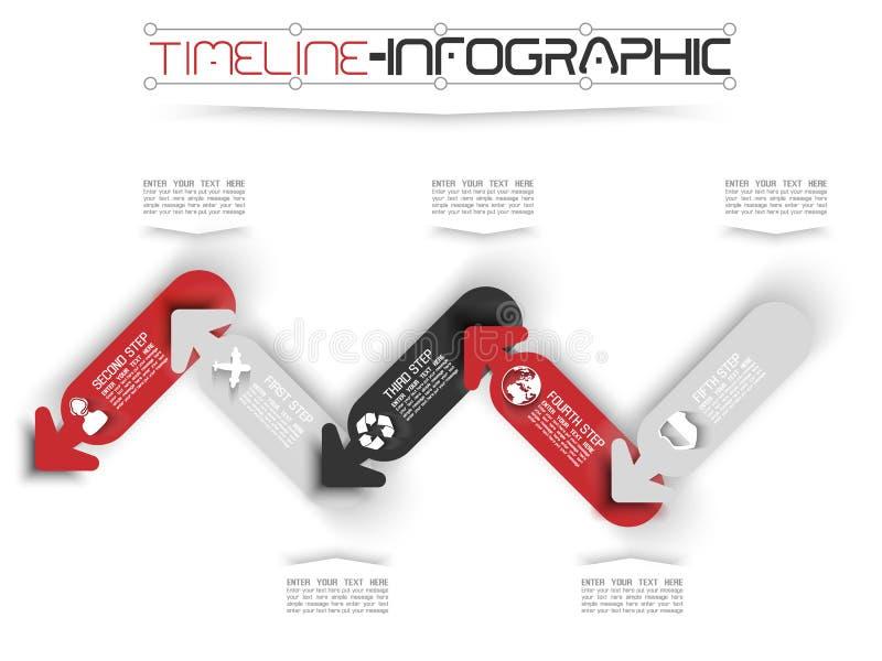 Cronología de Infographic ilustración del vector