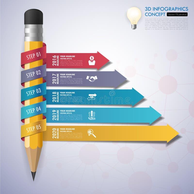 Cronología del concepto del negocio del diseño stock de ilustración