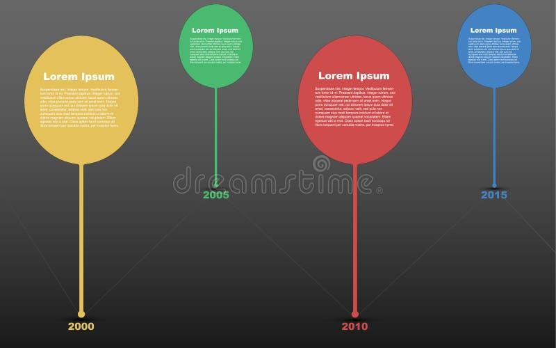 Cronología infographic, infographics de la cronología, línea de tiempo infograph stock de ilustración