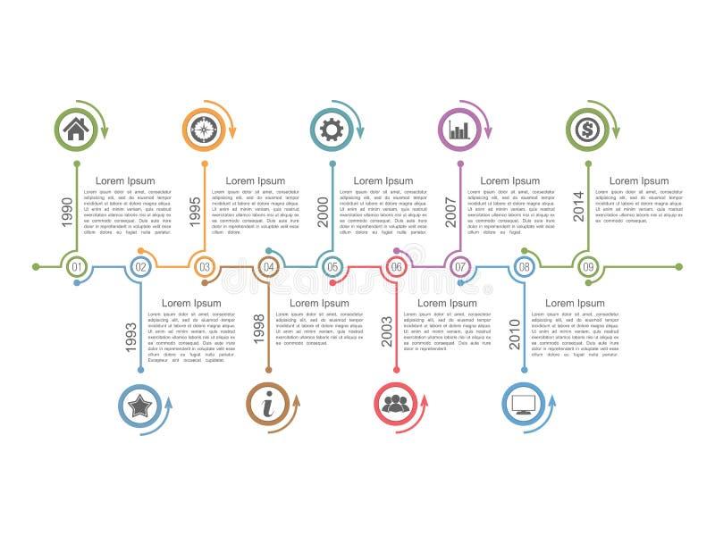 Cronología Infographics stock de ilustración