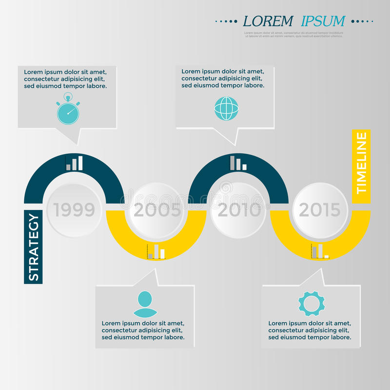 Cronologia Infographic di vettore illustrazione vettoriale