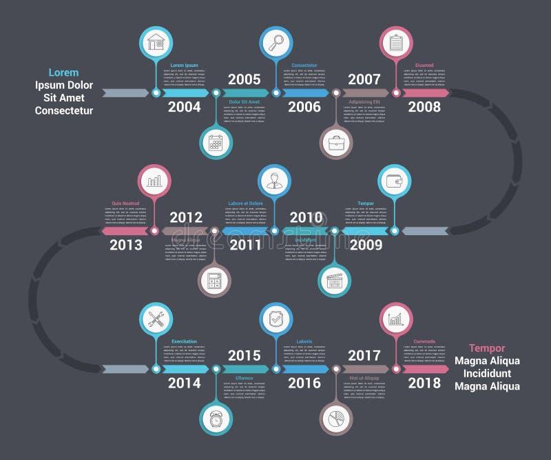 Cronologia Infographics royalty illustrazione gratis