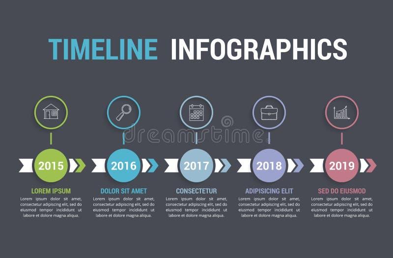 Cronologia Infographics illustrazione vettoriale