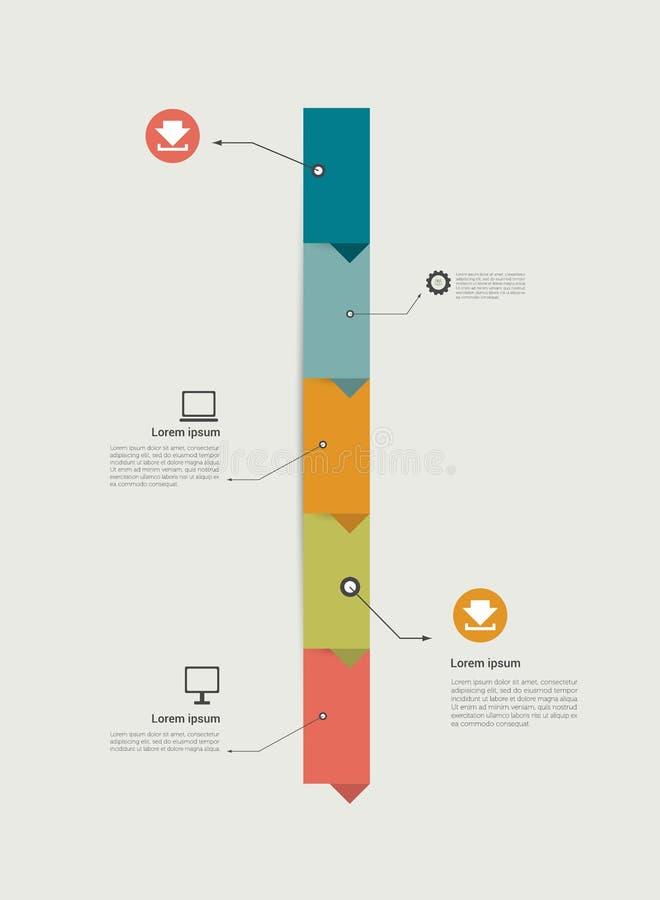 Cronologia Infographics Progettazione del modello di punto illustrazione vettoriale