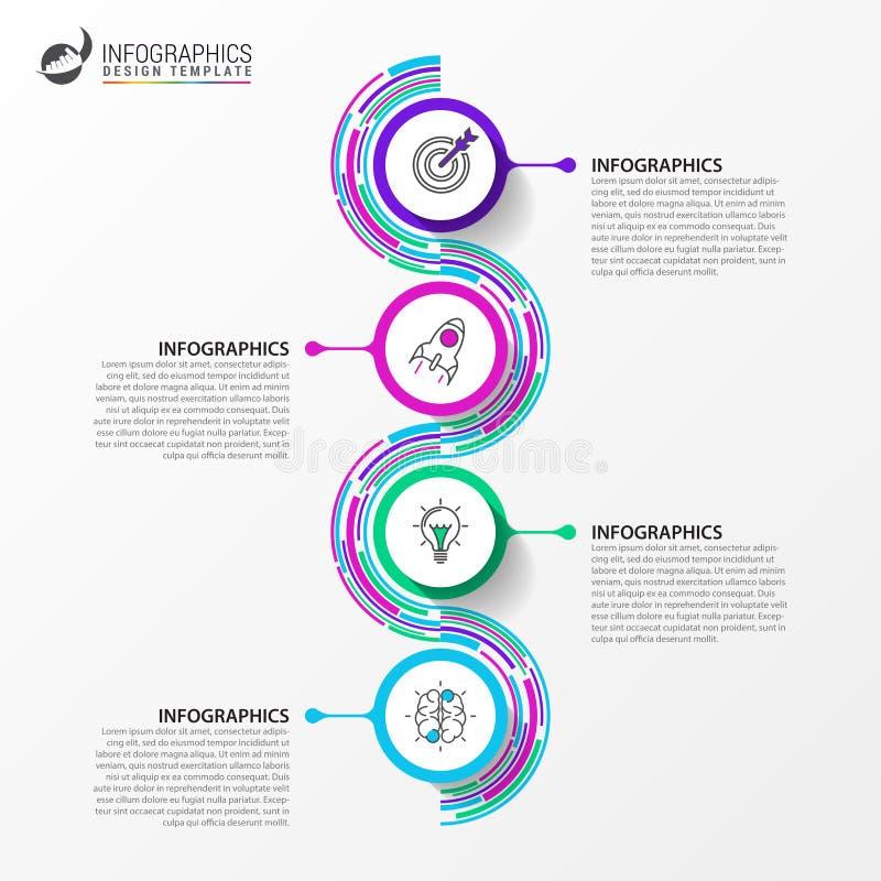 Cronologia Modello di progettazione di Infographic Concetto di affari Vettore illustrazione di stock