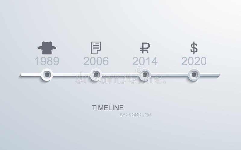 Cronologia moderna di vettore infographic illustrazione vettoriale