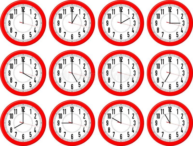 Cronometra i periodi differenti illustrazione vettoriale