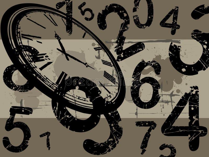 Cronometre com fundo do grunge ilustração royalty free