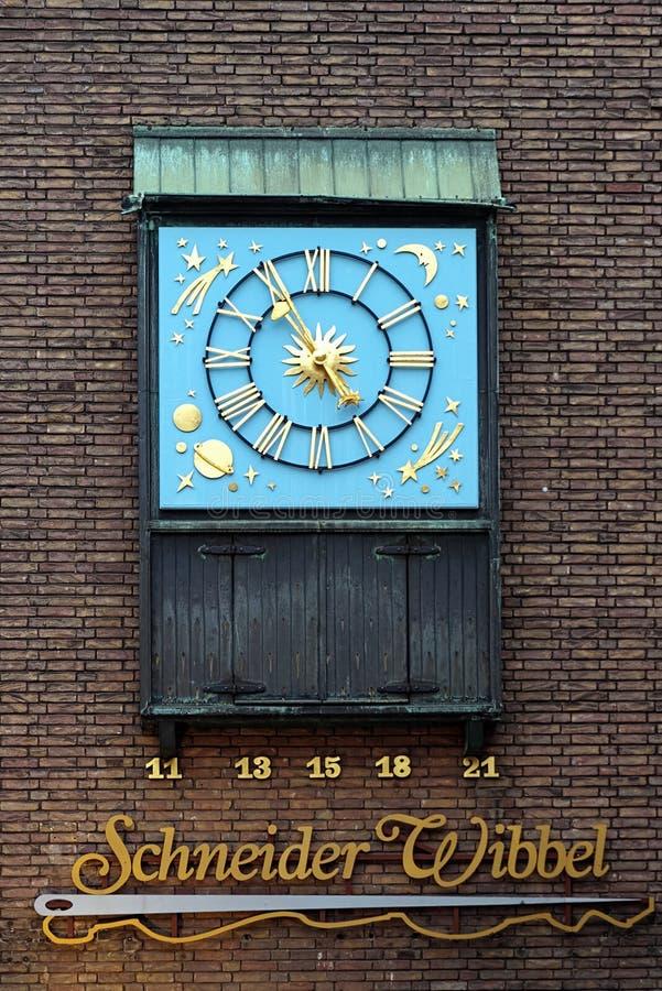 Cronometre dedicado a Schneider Wibbel em Dusseldorf imagem de stock