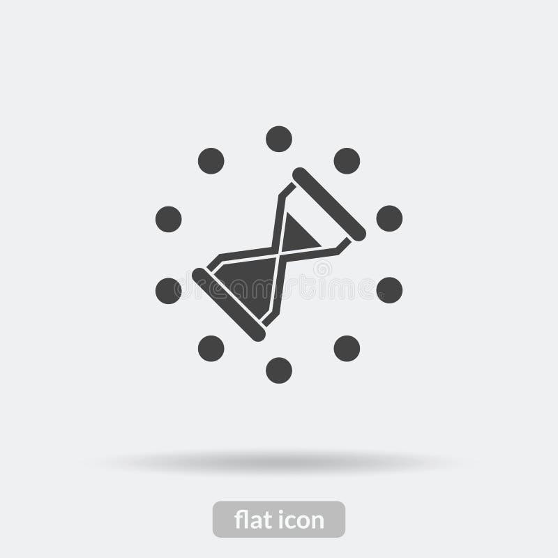 Cronometre o ícone da carga, vetor preto é o tipo EPS10 ilustração stock