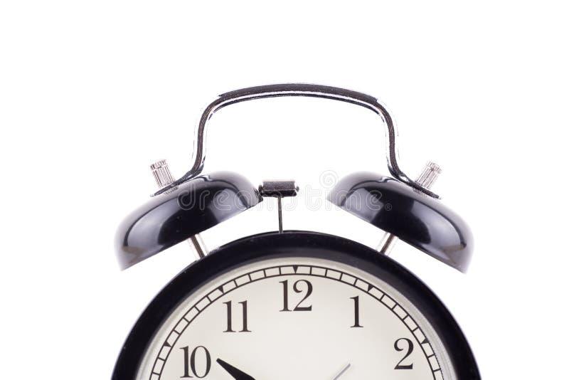 Cronometre o despertador clássico da cor preta do conceito isolado sobre o whit imagens de stock royalty free