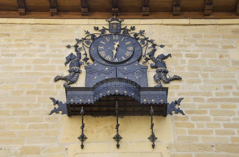 Cronometri i carillon a Laguardia in Alava, Spagna immagini stock