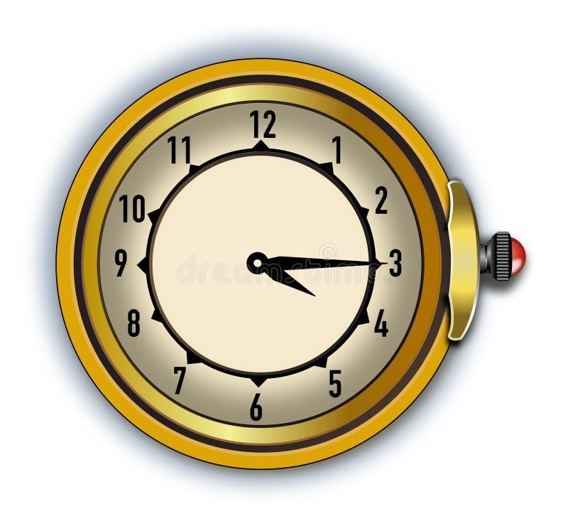 Cronometro antico dell'illustratore di vettore fotografia stock