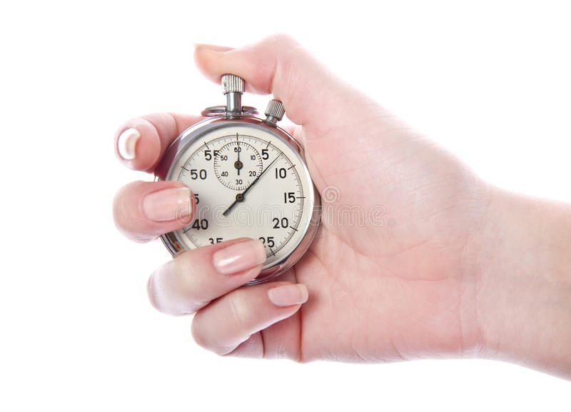 Cronometro d'annata del temporizzatore di sport fotografia stock