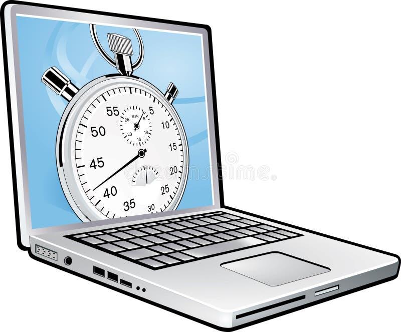 Cronometro del computer portatile illustrazione di stock