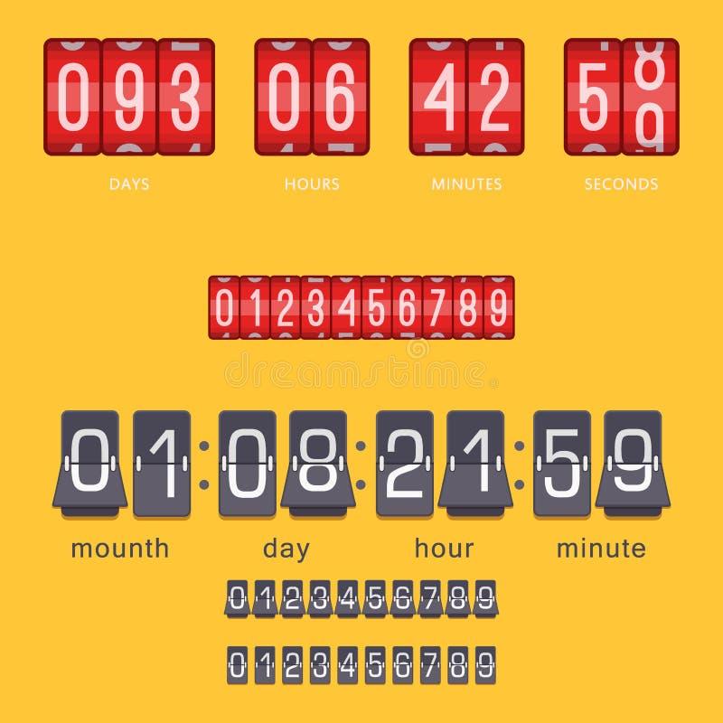 Cronometro dell'allarme di progettazione di minuto del segno di tempo dell'illustrazione di ora di simbolo di conto alla rovescia royalty illustrazione gratis
