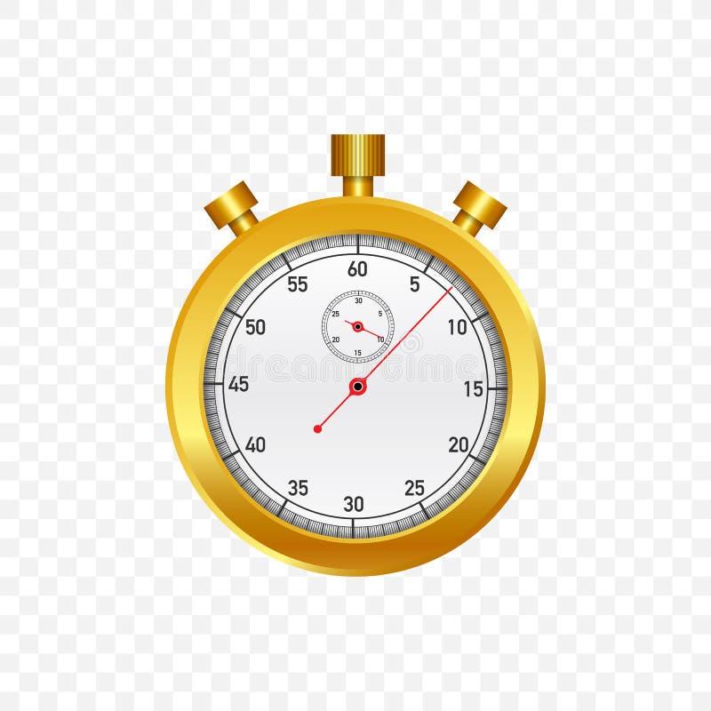 Cronometro dell'oro Vecchio cronometro meccanico Illustrazione di vettore illustrazione vettoriale