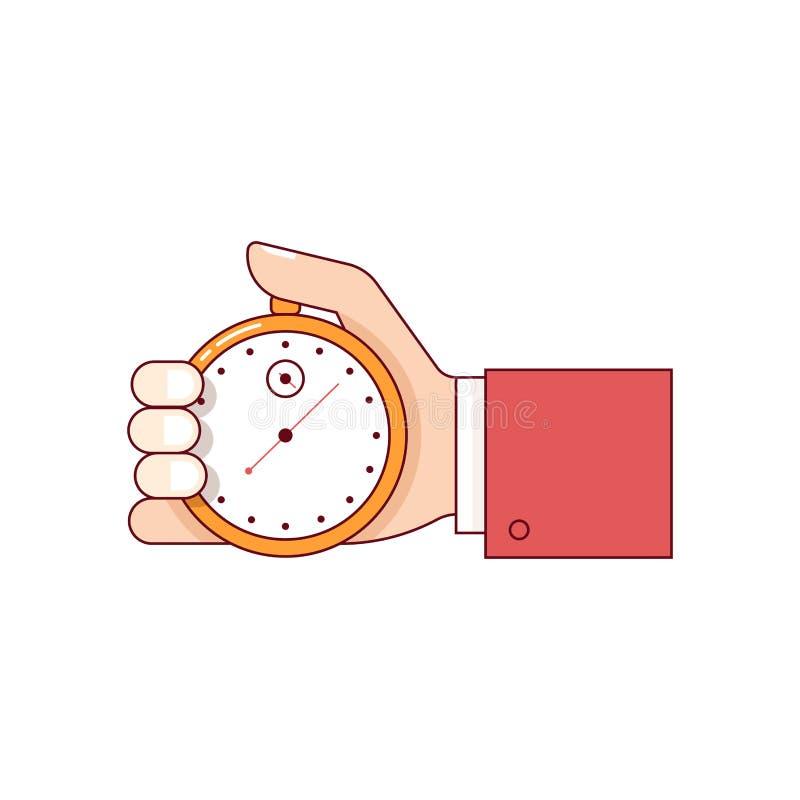 Cronometro della tenuta della mano dell'uomo di affari royalty illustrazione gratis