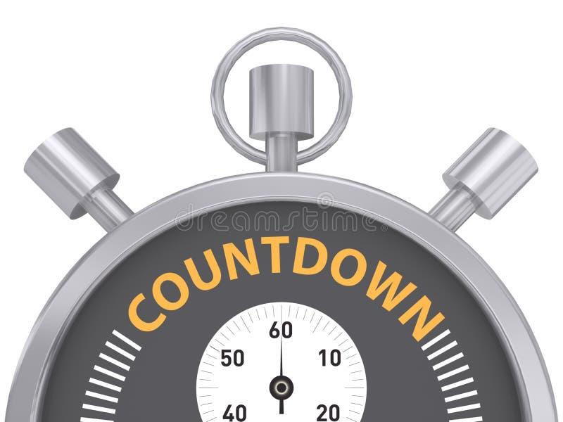 Cronometro di conto alla rovescia illustrazione vettoriale