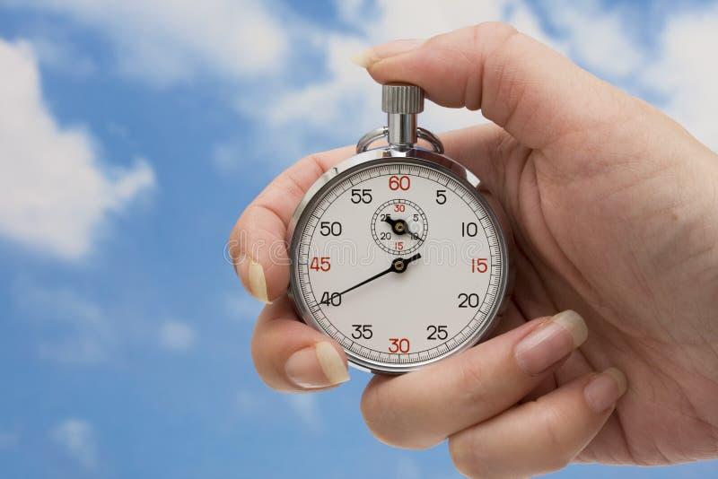 Cronometro a disposizione immagine stock libera da diritti
