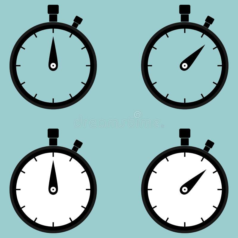 Cronometro, seconda contro icona illustrazione vettoriale