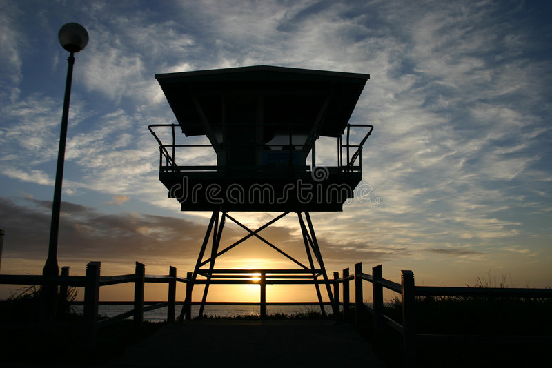 Download Cronulla life guard tower stock image. Image of beach - 6546027