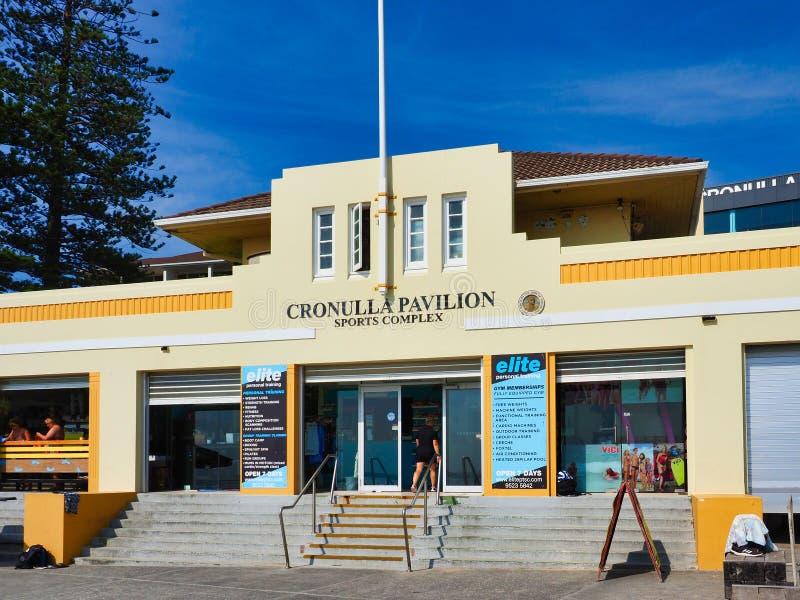 Cronulla paviljong, Cronulla strand, Sydney, Australien fotografering för bildbyråer