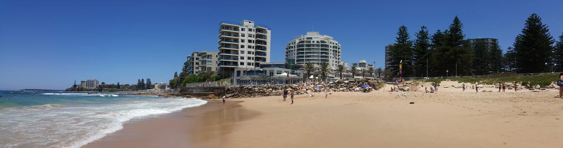 Cronulla strand i Sydney, Australien royaltyfri foto