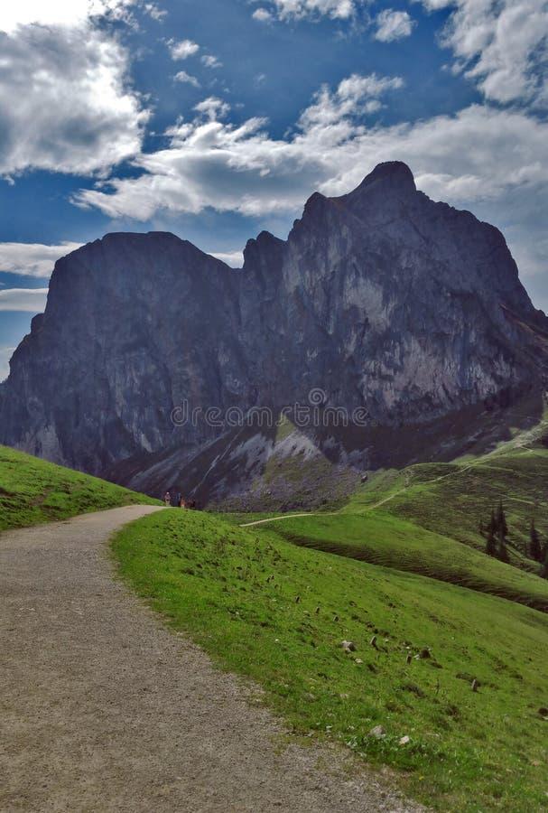 Croocked山在夏天,奥地利 免版税图库摄影
