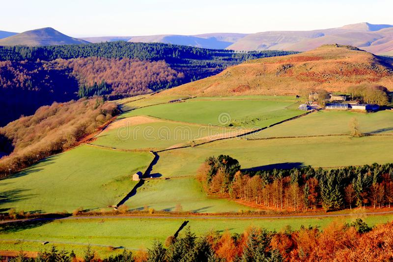 Crook Hill, Ladybower, Derbyshire, R-U images stock