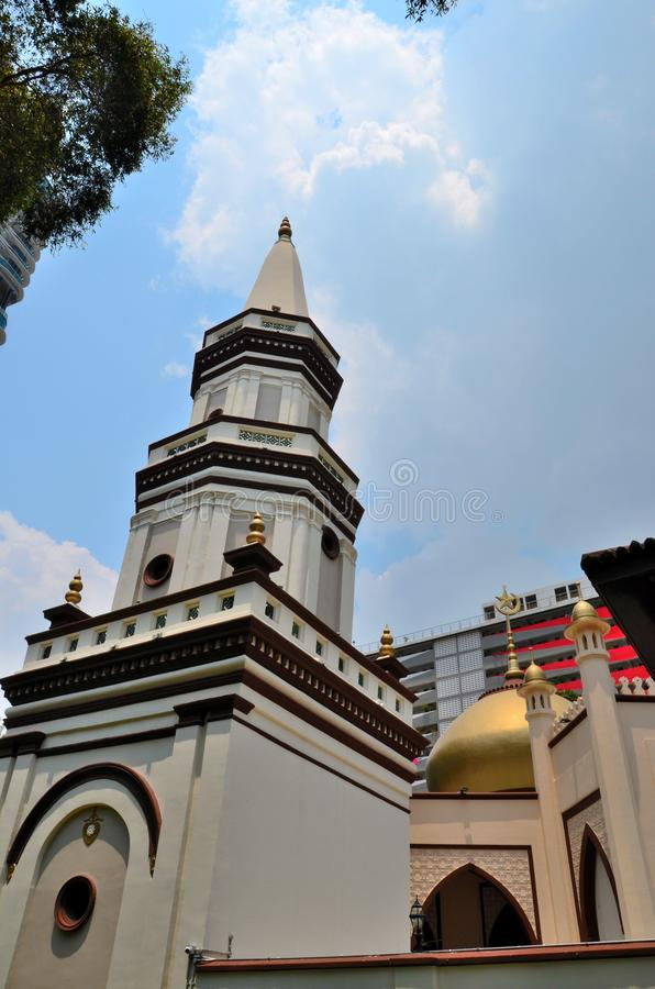 Free Crooked Leaning Minaret Of Hajjah Fatimah Mosque Kampong Glam District Singapore Stock Photos - 128038413