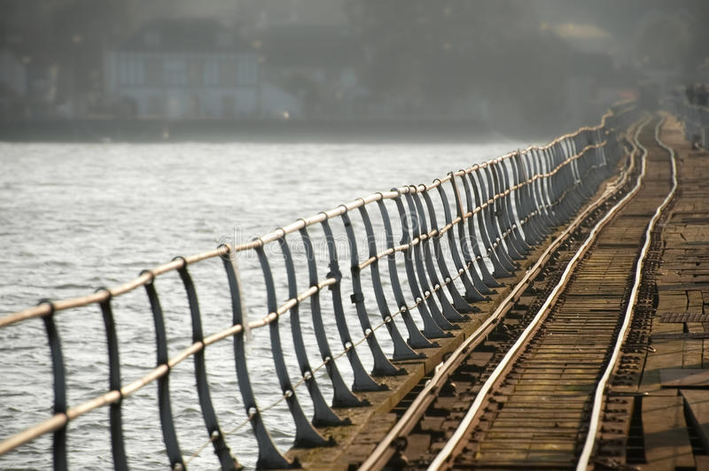 Download Crooked rail lines stock photo. Image of metal, railway - 17322498